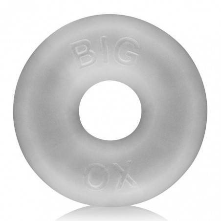 BIG OX FAT DONUT COCKRING SILICONE CLEAR BY OXBALLS