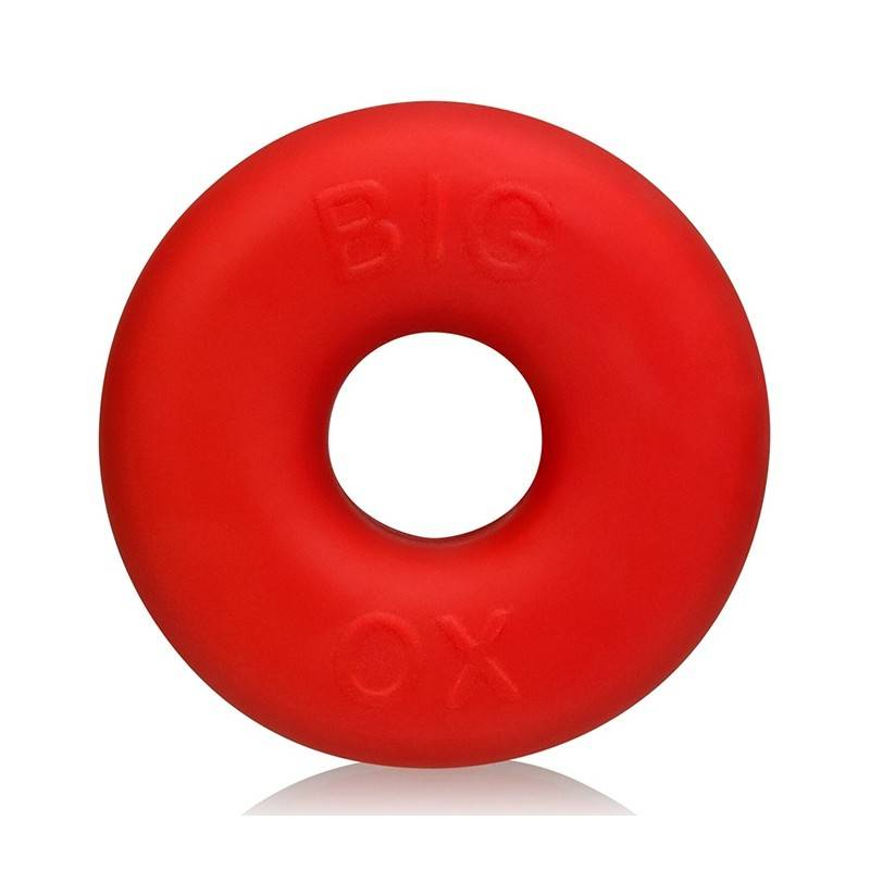 BIG OX FAT DONUT COCKRING SILICONE ROUGE BY OXBALLS