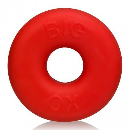BIG OX FAT DONUT COCKRING SILICONE RED BY OXBALLS