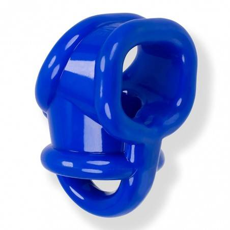 BALLSLING COCKRING BALLSTRETCHER EN FLEX TPR AZUL BY OXBALLS