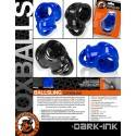 BALLSLING COCKRING BALLSTRETCHER EN FLEX TPR NOIR BY OXBALLS