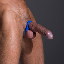 COCKRING BALLSTRETCHER EN SILICONE STABILIZER BLEU BY SPORTFUCKER