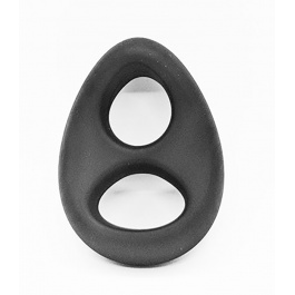 COCKRING BALLSTRETCHER EN SILICONA STABILIZER NEGRO