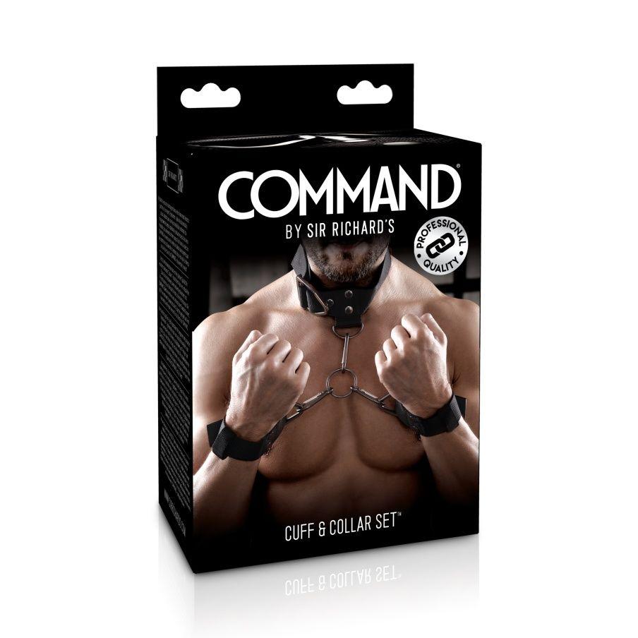 Set collier et menottes BDSM ajustable COMMAND by Sir Richard's