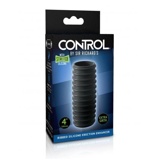 Ribbed silicone erection enhancer CONTROL
