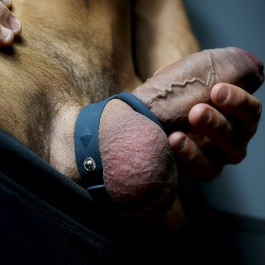 ADJUSTABLE SILICONE COCK & BALL STRAP S/M