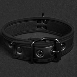 Collar de puppy en neopreno negro Mr S Leather