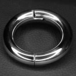 Magnetic Hinged Cock Ring - Stainless Steel