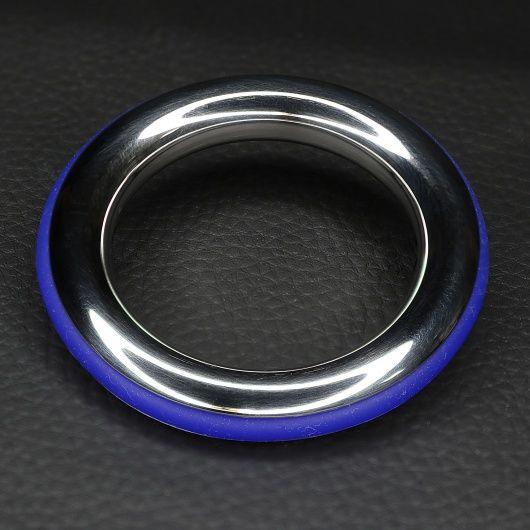 Cockring acier et silicone bleue ze cazzo