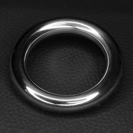 STAINLESS STEEL AND BLACK SILICONE COCKRING ZE CAZZO