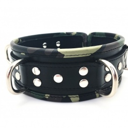 THE RED LEATHER COLLAR CAMOUFLAGE 5 RINGS