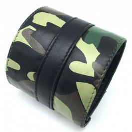 CAMOUFLAGE LEATHER STRENGTH BRACELET