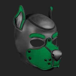 MR S LEATHER NEOPREN PUPPY MASKE K9 JAGERGRUN