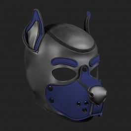 MR S LEATHER NEOPREN PUPPY MASKE K9 MARINE