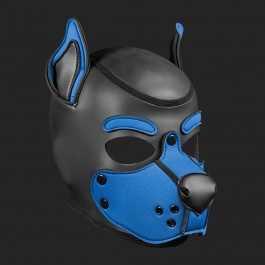 MR S LEATHER NEOPREN PUPPY MASKE K9 KOBALT