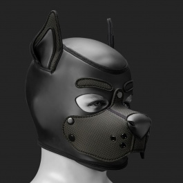 MR S LEATHER NEOPREN PUPPY MASKE K9 SCHWARZ