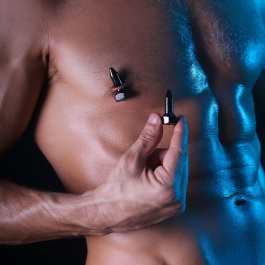 MAGNETIC NIPPLE CLAMPS BRO'S PINS TOM OF FINLAND