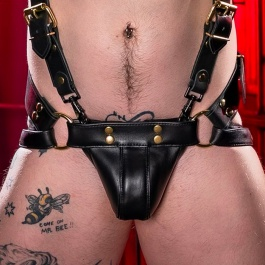 LEATHER JOCKSTRAP TROJAN KUPFER