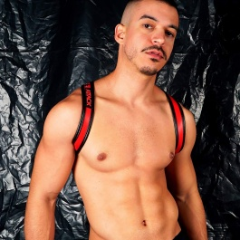 BUTTERFLY HARNESS BLACK RED