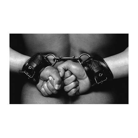 LEATHER HANDCUFFS WITH BUCKLES