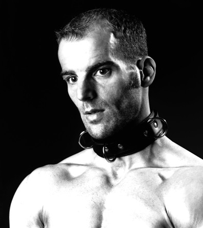 NECK SLAVE BONDAGE LEATHER COLLAR