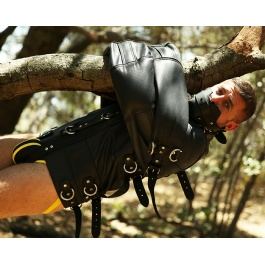 DELUXE LEATHER STRAITJACKET...