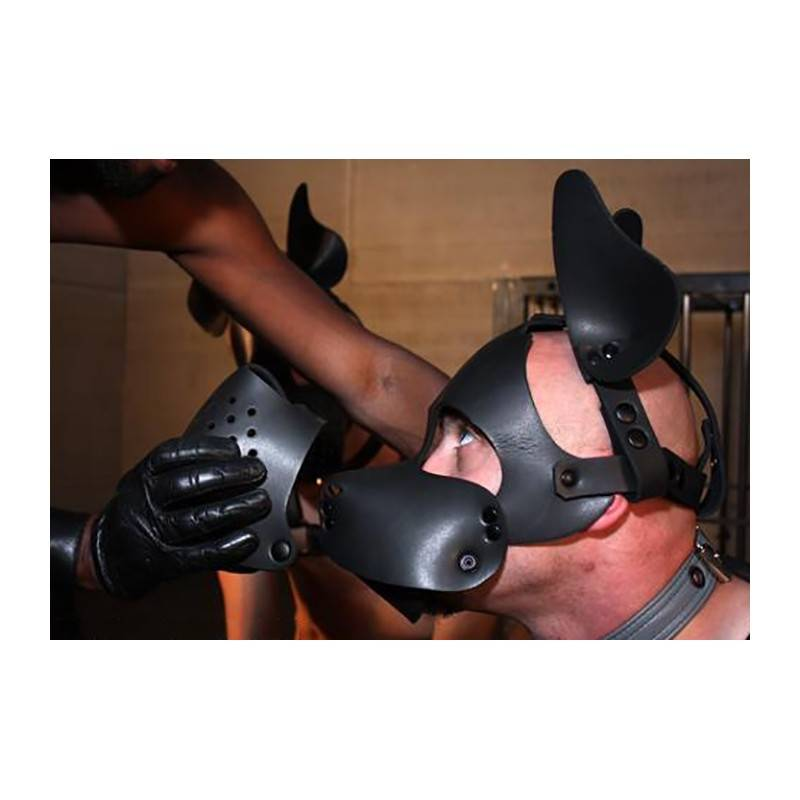 WOOF NEOPRENE CAGE MUZZLE Mr-S-LEATHER