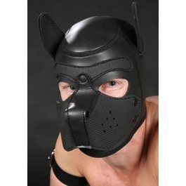 NEOPRENE PUPPY HOOD BLACK/BLACK by Mr-S-LEATHER