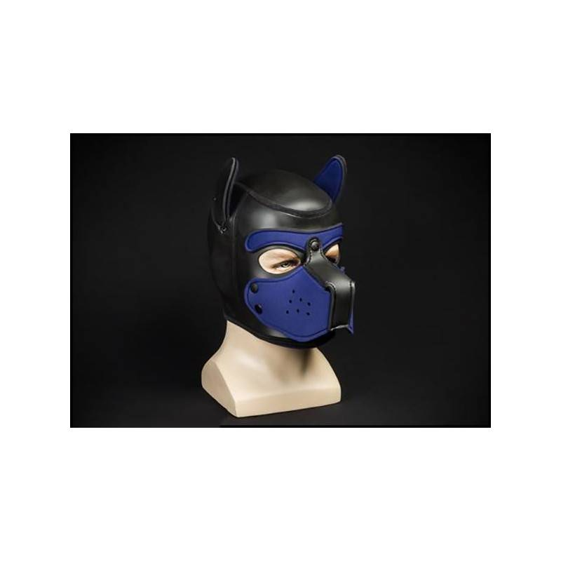 NEOPRENE PUPPY HOOD BLACK/NAVY by Mr-S-LEATHER