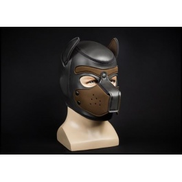 MR S LEATHER NEOPRENE PUPPY HOOD BROWN