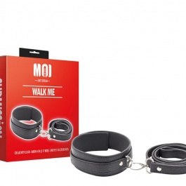 SET DE SOUMISSION COLLIER DE CHIEN ET LAISSE WALK ME by MOI SUBMISSION