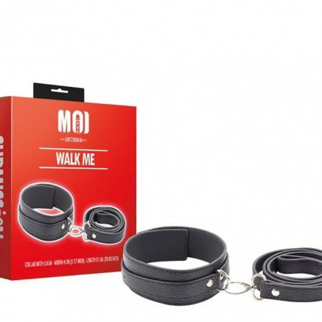 WALK ME SUBMISSION SET WITH DOG COLLAR AND LEASH by MOI SUBMISSION