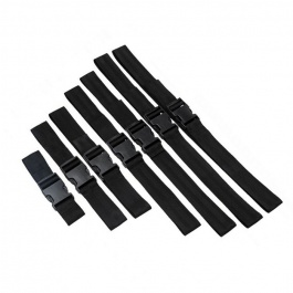 SET DE 7 CORREAS AJUSTABLES DE NYLON PARA BONDAGE by MASTER SERIES