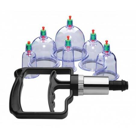 SUKSHEN 6 PIECE CUPPING SET WITH PUMP by MASTER SERIES