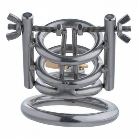DELUXE CLEAVER URETHRAL SPREADER CBT CHASTITY CAGE by MASTER SERIES