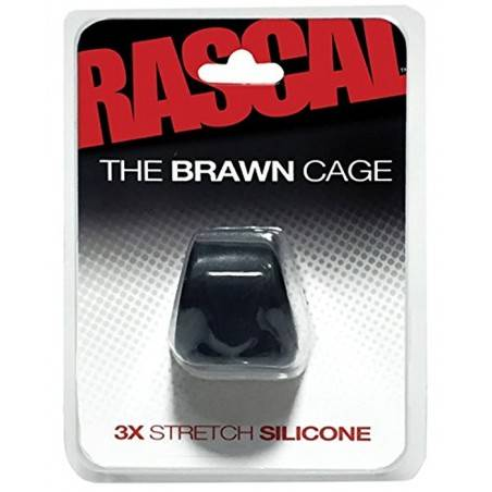 COCKSLING SILICONA 3X STRETCH BRAWN CAGE by RASCAL