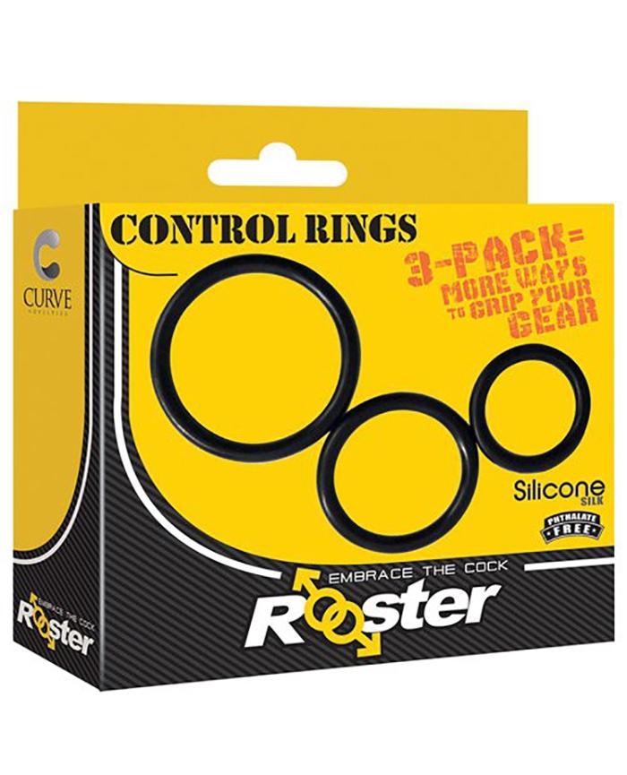 "SET DE 3 COCKRINGS PROGRESIVOS ""CONTROL RINGS"" ROOSTER"