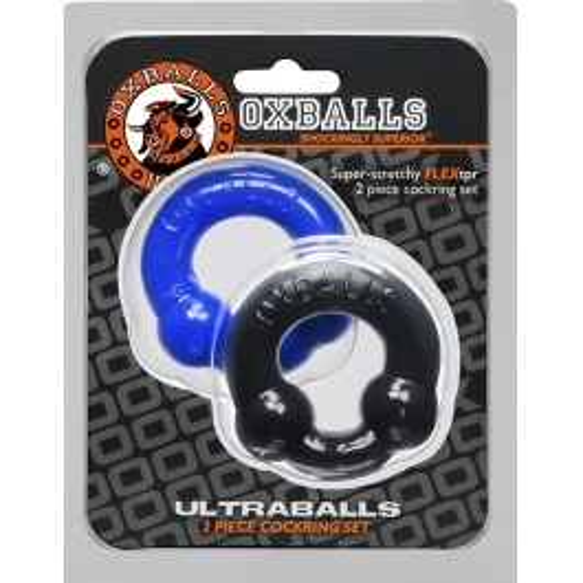2 COCKRINGS SET FLEX TPR ULTRABALLS by OXBALLS