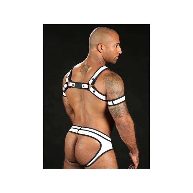 BRIEF NEOPRENE FULL ACCESS BLANC NEO BOLD BY MISTER S