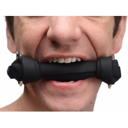 SILICONE BLACK BONE GAG BY XR BRANDS