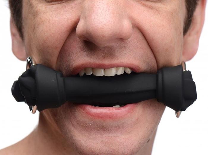 SILICONE BLACK BONE GAG BY XR BRANDS