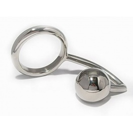 STAINLESS STEEL ASSLOCK WITH COCKRING AND 4CM ANAL BAZLL ZE LOCK