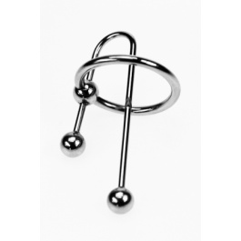 STAINLESS STEEL EICHEL RING MIT 60MM URETHRAL SOUND ZE TRIBAL VON DARK LINE